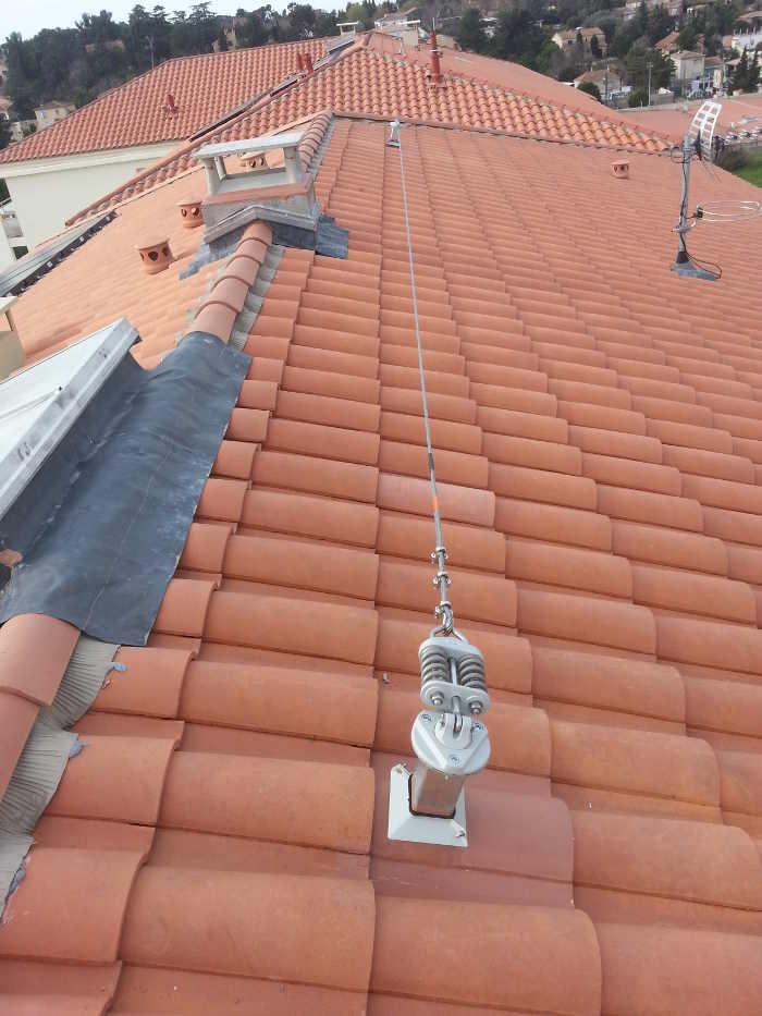 pose d u0026 39 une ligne de vie sur toiture